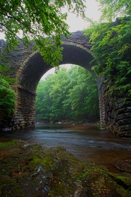 Keystone arch bridge on the Westfield River - photo by Dan Minicucci