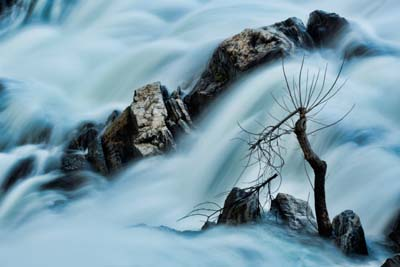 Rushing water on the Westfield River - photo by Dan Minicucci